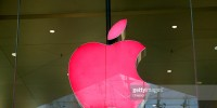 Apple logo on World AIDS day 2014