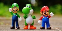 Luigi, Yoshi, and Mario